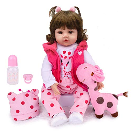 Kaydora Reborn Baby Doll 22 inch Lifelike Baby Reborn Toddler Girl, Named Nana
