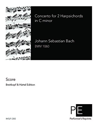 Concerto for 2 Harpsichords, BWV 1060 - Score