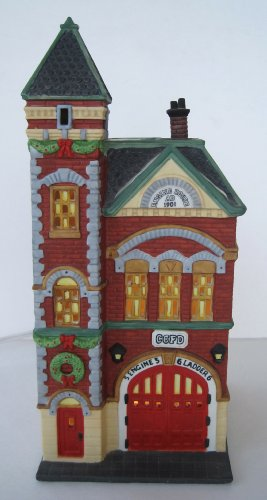 Department 56 Heritage Village Collection ; Christmas in the City Series ; Red Brick Fire Station #5536-0
