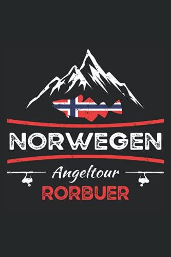 Norwegen Angeltour Rorbuer: Fangbuch für Angler zum Hochseeangeln und die Angelreise in die norwegischen Fjorde - Fang-Templates zum Ausfüllen beim Angeln