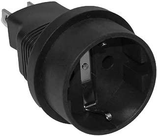 SF Cable Europe Schuko Female to USA NEMA 5-15 Power Plug Adapter