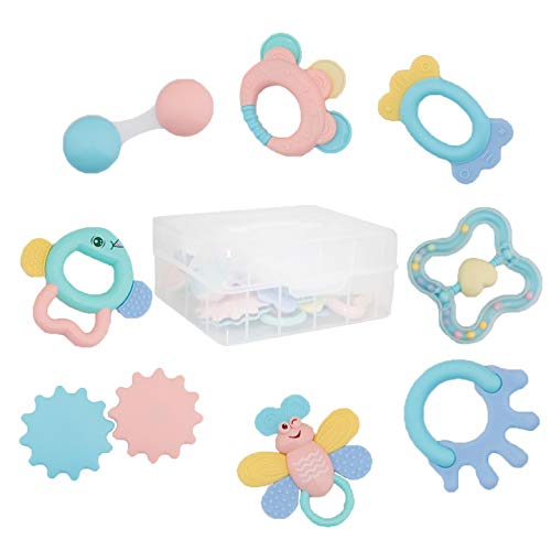 Product Image of the Rattle Teether Baby Toys - Baby 8pcs Shake and GRAP Baby Hand Development Rattle...
