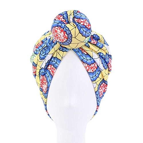 BWCGA Cap coloración del Cabello Diadema Styling India Dona Haircaring Turbante Sombrero de Chemo algodón de Las señoras satén de la Manera Dot Cimera del Capo (Color : D)