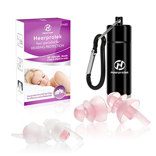 [2019 New Design] Sleeping Ear Plugs, Hearprotek 2 Pairs Women Ear Plugs,...