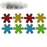 4/8 piezas de telas no tejidas, ollas, sartenes, separador,...
