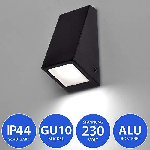 MAXKOMFORT® Aussenleuchte 560 Wandleuchte Aluminium Wandlampe Aussenwandleuchte Schwarz GU10 Fassung