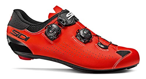 SIDI Shoes Genius 10, Scape Cycling Man, Black Red Fluo, 39