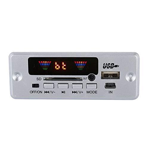 Décodeur Audio sans Fil, Bluetooth Décodeur MP3 Mains Libre Module Décodeur avec Télécommande IR Supoort USB/SD/FM/AUX WAV MP3 WMA Lossless FM MP3.(Argent)
