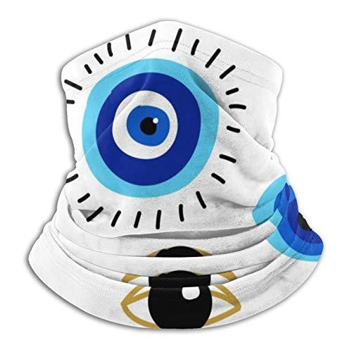 Evil Eyes - Bufanda cálida para hombres y mujeres para adultos pasamontañas liviano para hombres