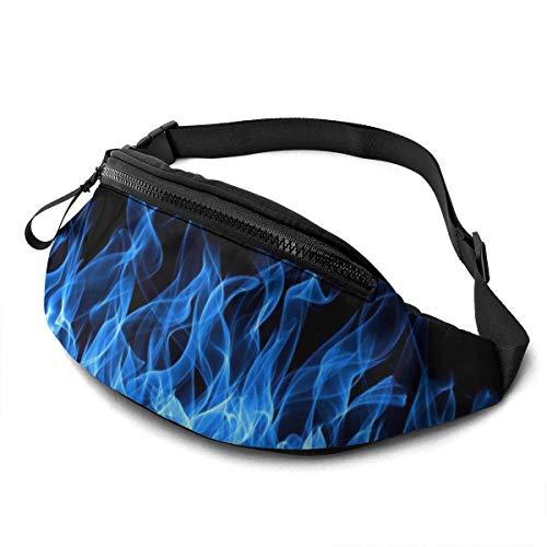 AOOEDM Riñonera con Estampado de Llama Azul, riñonera Liviana de Viaje de Moda, riñonera Ajustable para Correr, Deportes