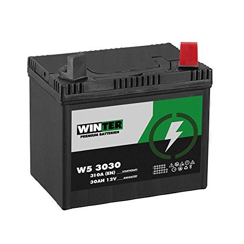 Aufsitzmäher Batterie 12V 30Ah 310A/EN 53030 Rasentraktor Batterie Plus Pol Rechts