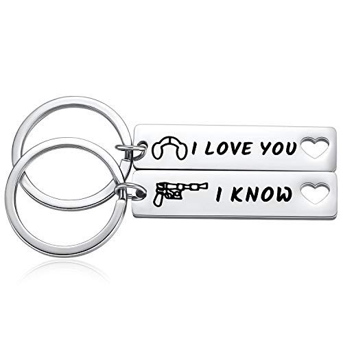 I Love You. I Know. Keychain Set
