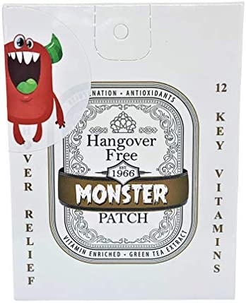 Monster Hangover Prevention 5 Patches Five Total 12 Booster Enriched Vitamins Each Individually product image