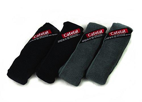 Cafelat Mikrofaser Reinigungstücher für Espressomaschinen | 2 x schwarz / 2 x grau