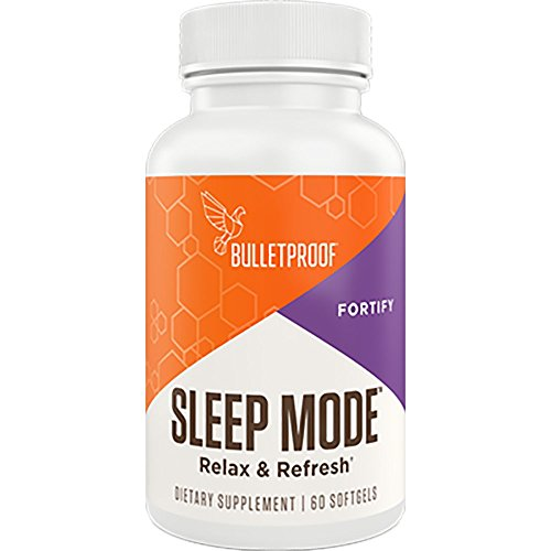 Bulletproof Sleep Mode Plant-Sourced Melatonin Sleep Aid with Brain Octane MCT Oil That Helps You Relax, Fall Asleep Faster, and Feel Refreshed, 60 Softgels