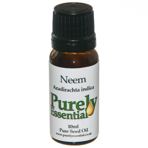 Neem Seed Carrier Oil 10ml Pure and Natural, Purely Essential