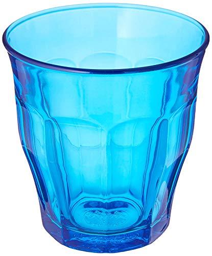 Duralex Picardie - Juego de Vasos Bajos de Colores - para Agua o Zumo - Azul - 250ml - Pack de 6