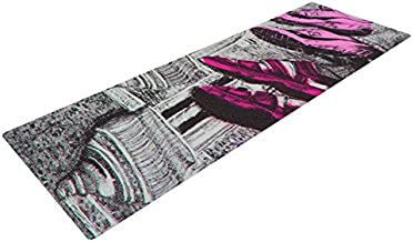 Kess InHouse Theresa Giolzetti Shoes in SF Yoga Exercise Mat, Gray/Purple, 72 x 24-Inch