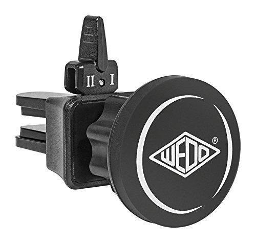 Wedo 6006001'Dock de IT Coche Smartphone Soporte Magnético para ventilación de Coche, Universal Todos los Dispositivos, Articulación de 360Grados, 2Niveles Interruptor, Conector de Goma Negro
