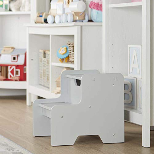 Melissa amp Doug Kids Furniture Wooden Step Stool  Gray 4 to 10 Years