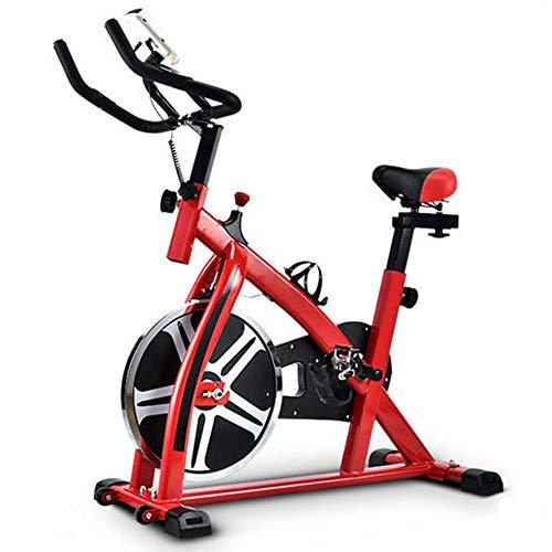 ZJRA Commerciale Studio Cycle, Cyclette casa, volano Standard per la casa Cardio Workout Ciclismo Bike-Cinghia di Trasmissione con Il Monitor LCD, Confortevole