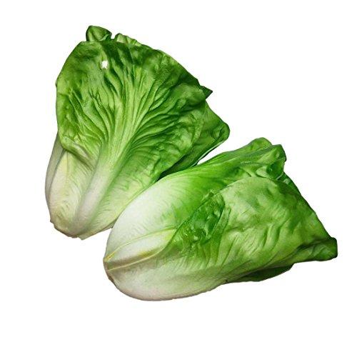 Lorigun Artificial Lettuce, Fake Vegetable, Artificial Vegetables for Decoration, Home Kitchen Decor, PU Vegetable 2 Pcs