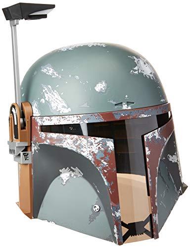Star Wars Black Series Capacete eletrônico premium Boba Fett - Artigo de roleplay colecionável a comemorar o 40.º Aniversário de Star Wars: O Império Contra-Ataca - E7543 - Hasbro