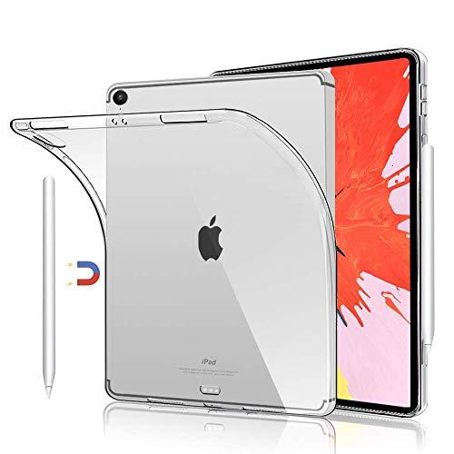 HBorna Silikon Hülle für iPad Pro 12.9 Zoll 2018, Crystal Hülle Cover, Dünn Soft Lichtdurchlässig Rückseite Abdeckung Schutzhülle für Apple iPad Pro 12,9 A1876 A1895 A1983 A2014, Transparent