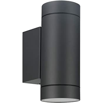 Laside Outdoor Wall Lights Anthracite Grey Gu10 Up Down Outside Wall Lights Electric Ip44 Waterproof Aluminium Garden Wall Lights Mains Powered For Patio Terrace Garden Balcony Porch Garage Amazon Co Uk Lighting