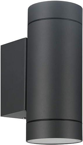 LASIDE Applique Murale Exterieur, Gris Anthracite 2x GU10 Aluminium Up Down Eclairage Exterieur, IP44 Étanche Luminai...