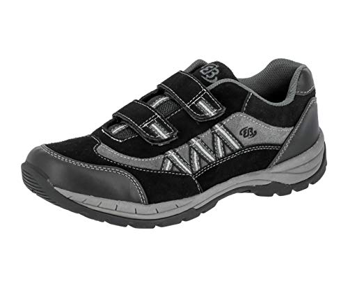 Brütting Man Comfort V Herren Sneaker, Schwarz/ Anthrazit, 39 EU