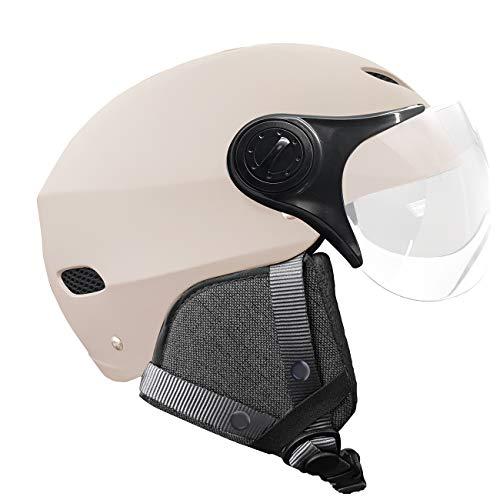Yeep.me H30 Vision - Casco LED con visera Nude S/M (51-56 cm)...