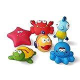 JUNSHEN Juguetes de baño(6PCS), Juguetes para bebés, Juguetes para el Agua, Juguetes...
