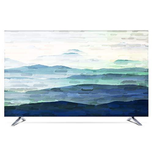 KOIOK Bildschirm Abdeckung Indoor Staubschutz Hülle High Definition Druck Bildschirmen Deko für 24-80 Zoll TV - 55 Zoll Morgenlicht
