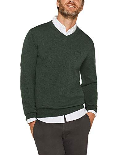 ESPRIT Herren 999EE2I804 Pullover, Grün (Dark Green 300) -2019, L