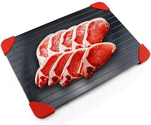 SBDLXY Auftautablett, Antihaft-Auftauteller für Gefrorene Fleischnahrungsmittel, Rapid Defroster Thaw Master-Auftautablett für alle Fleischgemüse groß