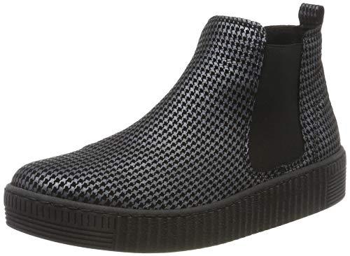 Gabor Shoes Gabor Jollys, Damen Kurzschaft Stiefel, Schwarz (Schw./Grau (Schw.) 49), 39 EU (6 UK)