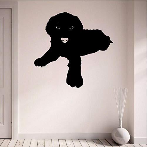 YANGSHUANG Sticker mural Autocollant espiègle de mur de PVC de plaisir de chien de 60CM * 56.6CM pour la décoration de chambre d'enfants