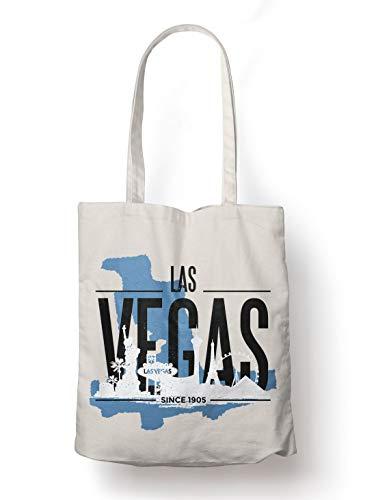 BLAK TEE Las Vegas USA Skyline Organic Cotton Reusable Shopping Bag Naturale