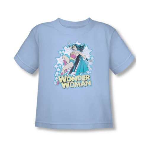 Dc Comics - - Je suis Wonder Woman bambins T-shirt En Blue Light Sheer, 3T, Light Blue Sheer