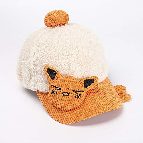 wopiaol Chapeau pour Enfants modèles d automne et d hiver Version coréenne de la Laine d agneau Chat Mignon Casquette de Baseball Enfants Dessin animé Chaud Chapeau d hiver bébé en Peluche