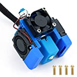Haldis 3D Printer Bowden Extruder Hotend Kits,Upgraded 24V Volcano All Metal V6 J-Head Extrusion Hot End Parts with 5 Pieces Brass Nozzle + 3 Cooling Fans(3010) for All 1.75mm E3D V6 Makernot