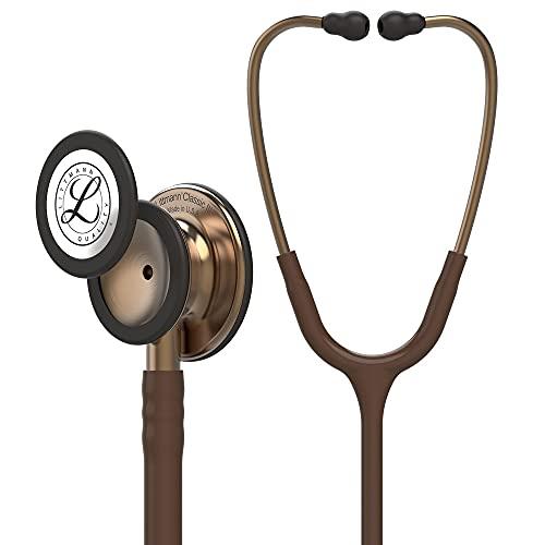 3M Littmann Classic III Fonendoscopio para monitorización, campana de acabado en color Bronce, tubo color chocolate, 69 cm, 5809