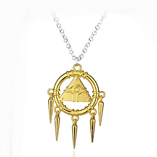 VAWAA Halskette Anime Yugioh Millenium Anhänger Schmuck Yu Gi Oh Cosplay Pyramide Ägyptischen Auge des Horus Halsketten Bijouterie