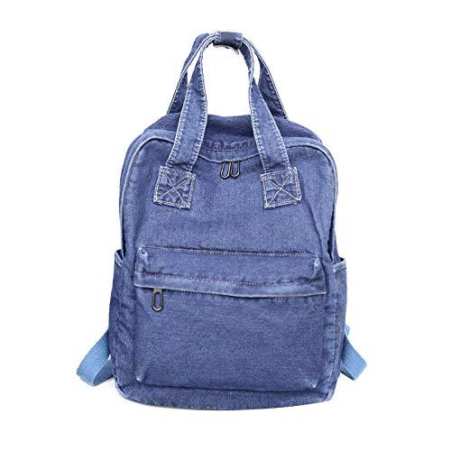 Zgcp Rucksack Literarischen Kleinen Frischen Jeansrucksack Einfache Vielseitige Studententasche