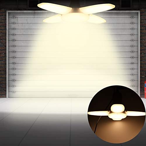 Jimdary Plafonnier, 60W Blanc Chaud Portable Duable E27 Portable Pliant lumière pour PC, pour sous-Sol Barn Home Store