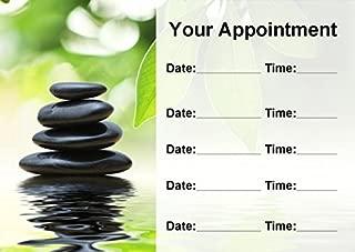 Beauty Salon Spa Treatment Massage Black Stones Personalized Appointment Cards