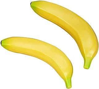 HUNGUPA Szs 6pcs Plastic Simulation Bananas Yellow Hammock Oatmeal Bananaholder Soccer Holder Conditioner Jersey Toys Cups Plastic Banana