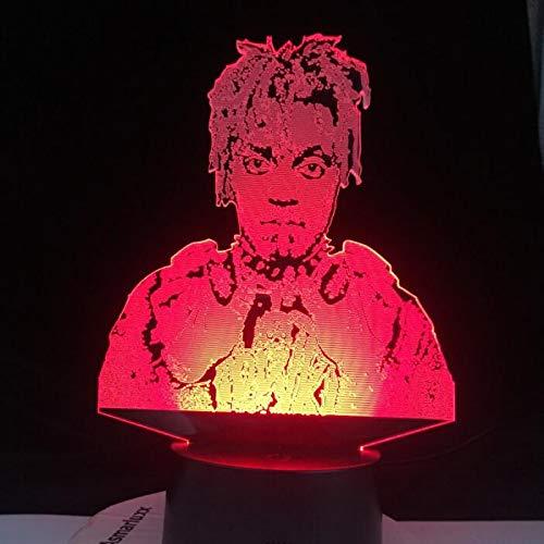 Juice WRLD 999 Cry Baby NO Vanity OBTENGA Cake Die Young Love All Design SKU Lámpara LED 3D Todos Todo(7 Color no Remote,3D Lamp 1)