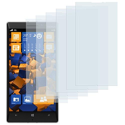 mumbi Schutzfolie kompatibel mit Nokia Lumia 930 Folie klar, Bildschirmschutzfolie (6x)